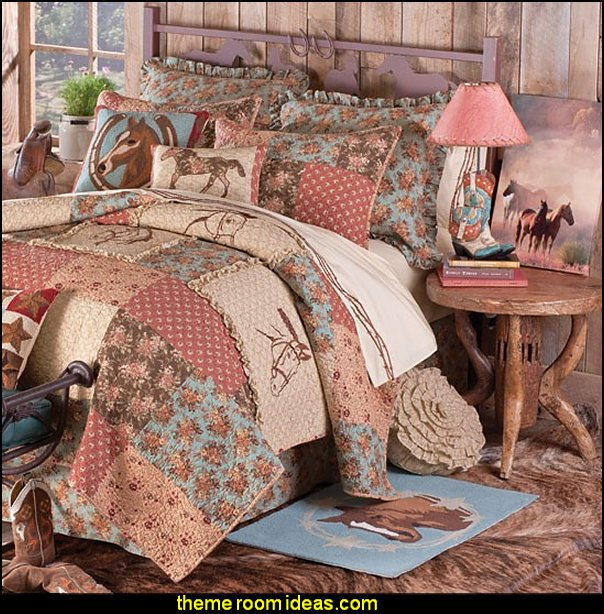 Interior Cowgirl Bedroom Ideas decorating theme bedrooms maries manor horse bedroom whispering creek quilted bedding collection cowgirl decor